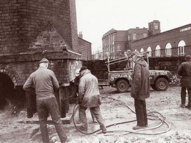 Lancashire Hill Mill Chimney Drop, Stockport